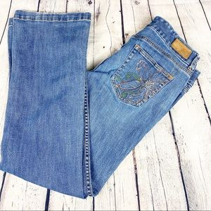 Tommy Hilfiger Emborderied Boot Cut Jeans